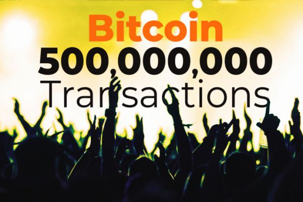 500,000,000 Bitcoin transactions